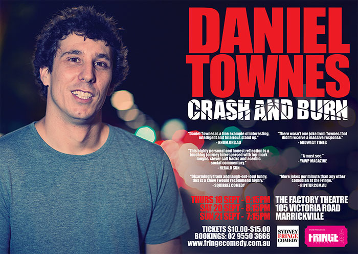 Stand Up Comedy Sydney Daniel Townes
