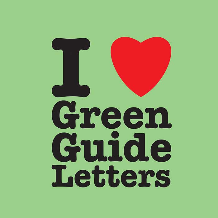 I Love Green Guide Letters