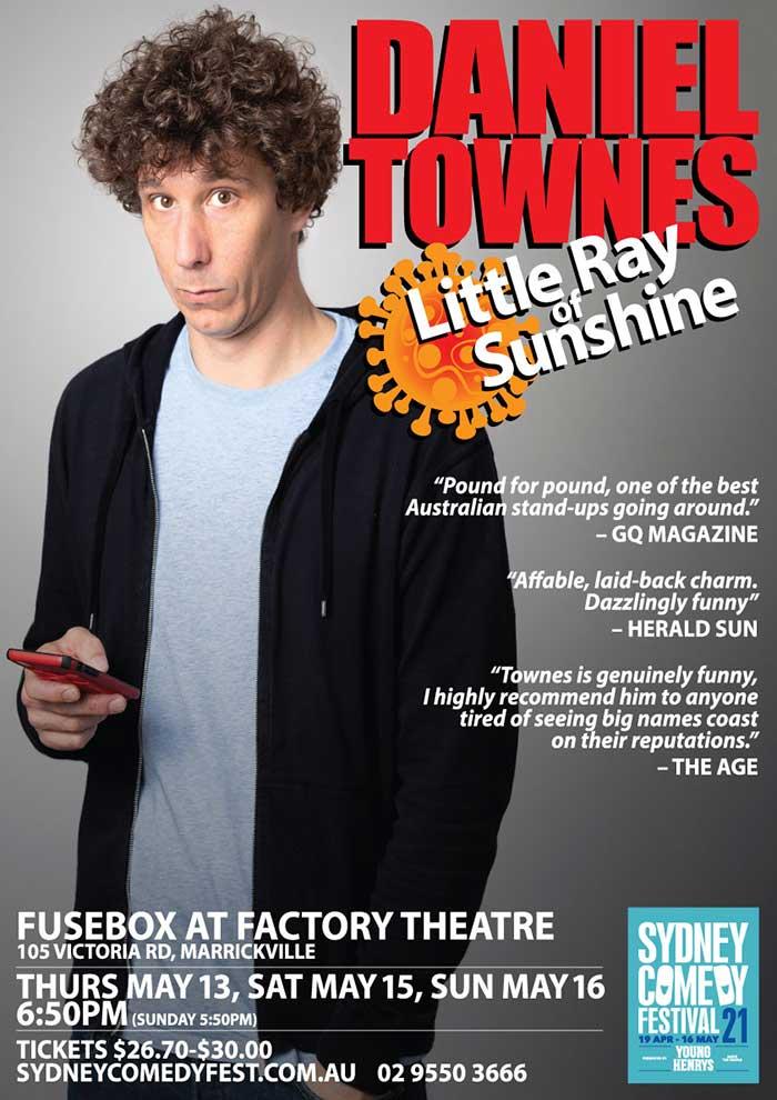 Daniel Townes Sydney Comedy Festival 2021